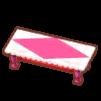 ラブリーローテーブルピンク