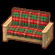 クリスマスチェックのソファL