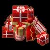 クリスマスプレゼントのやま