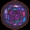 バラのステンドグラスラグ