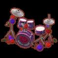 バラのドラムセット
