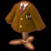 ベージュのブレザー