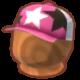 ピンクのキャップ