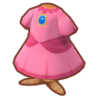 ピーチのドレス