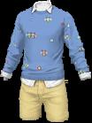 スプリングシャツ 青黄