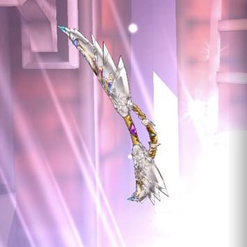 白い鳥を射落とした弓