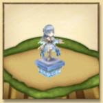 光の王アイリスの像