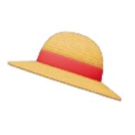 赤いリボンの麦わら帽子