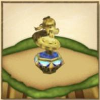 王冠アイリスの像